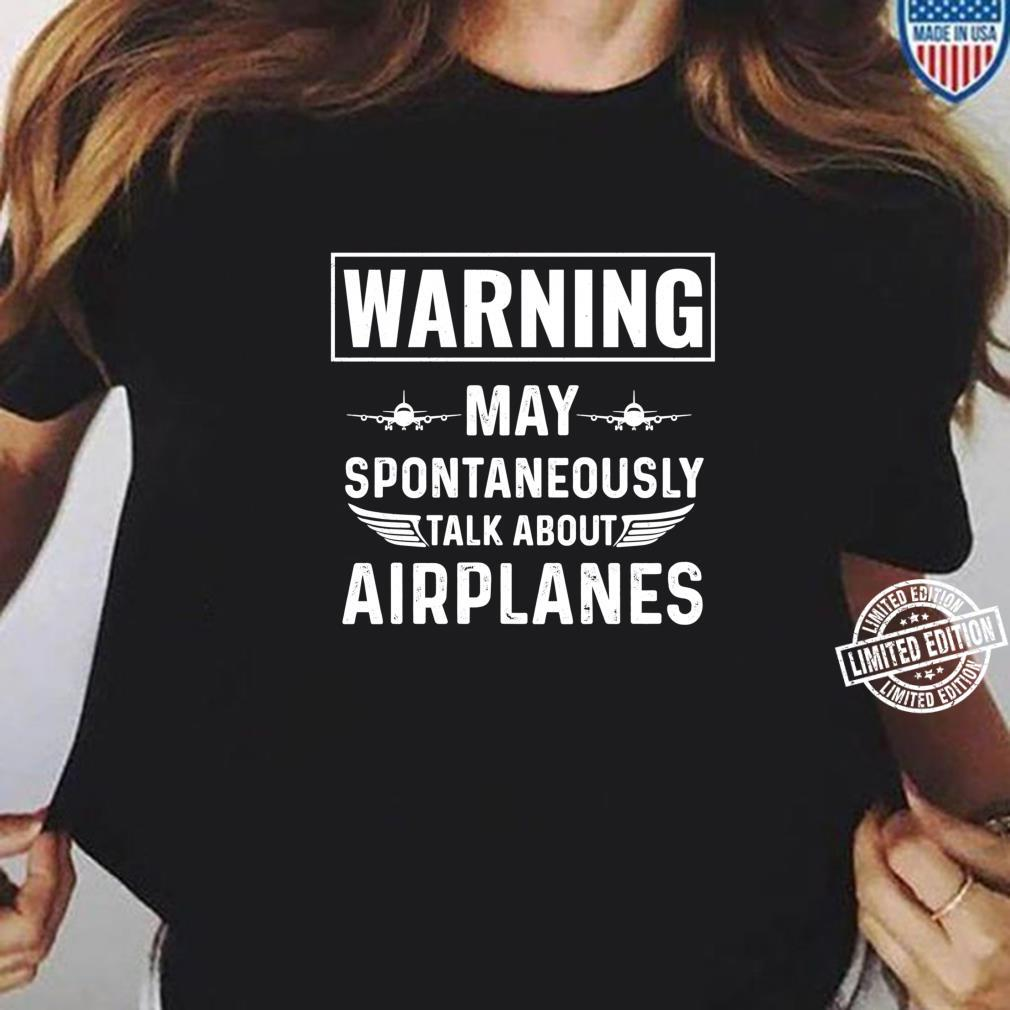 Talk about Airplanes Pilot Aviation Flying Flight Apparel Shirt ladies tee