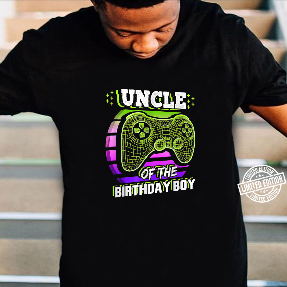 Uncle of the Birthday Boy Matching Video Gamer Party Shirt
